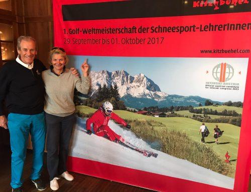 Hildegard Falkner-Bujar – Skilehrerin der Skischule Reith bei Kitzbühel – Golf-Weltmeisterin der Schneesportlehrer