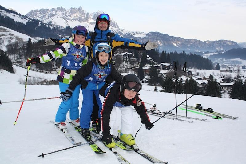 Skifahren (lernen) in der Skischule Reith bei Kitzbühel macht richtig Spaß